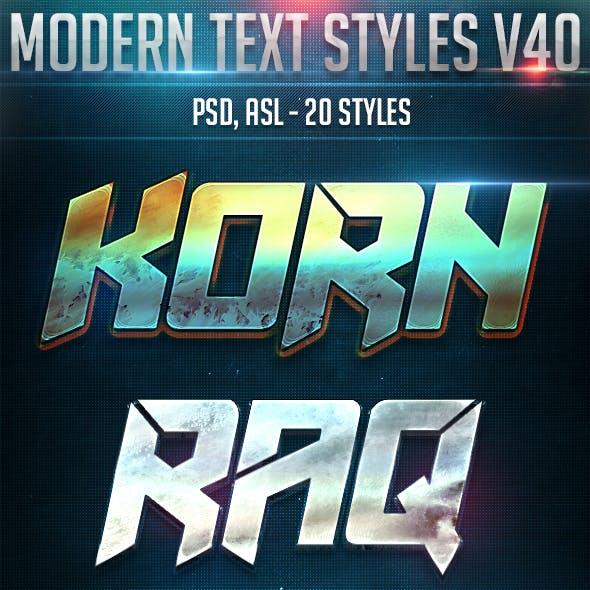 Modern Text Styles V40