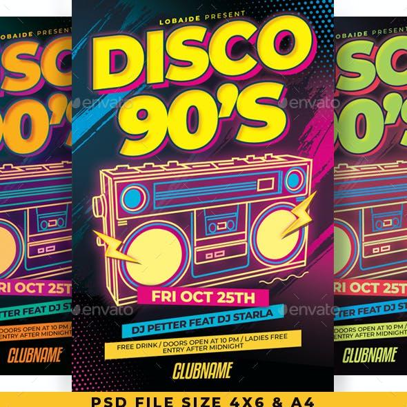 Disco 90's Flyer