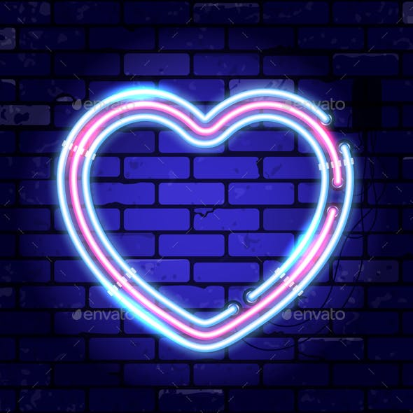 Valentines Day Neon Signboard