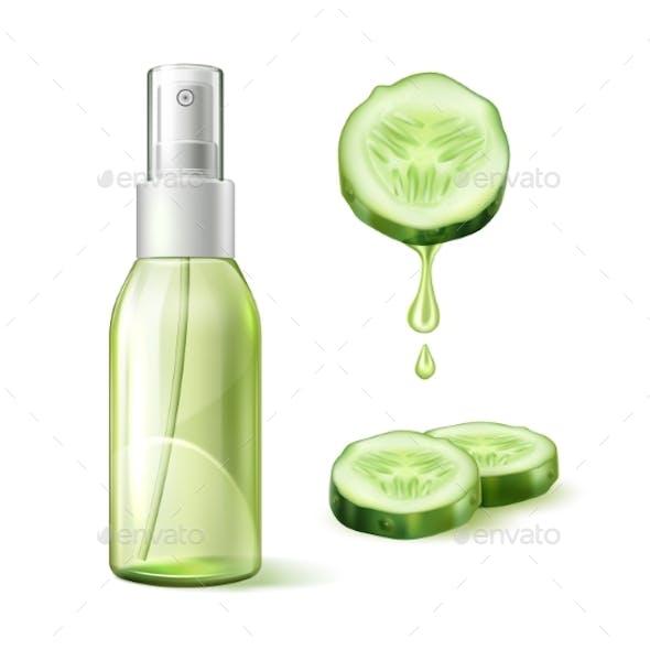 Vector Skin Care Cucumber Moisturizer Template