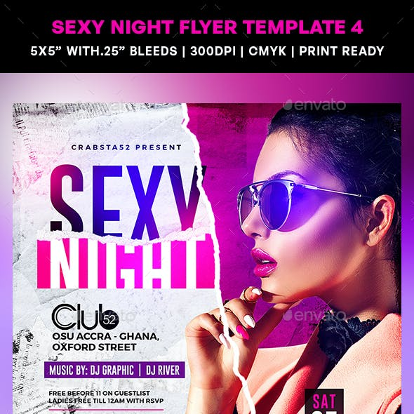 Sexy Night Flyer Template 4