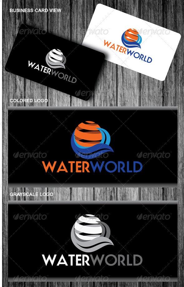 Water World Logo - Nature Logo Templates