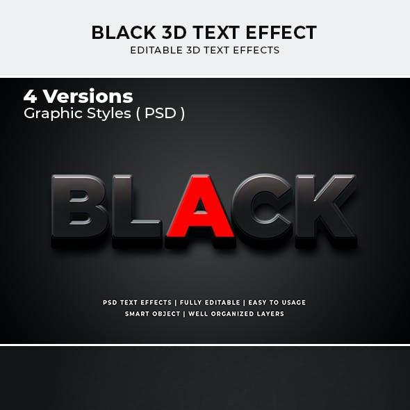Black 3d Text Effect