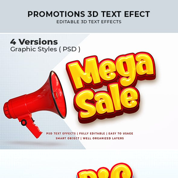 Promotions 3d Text Effect