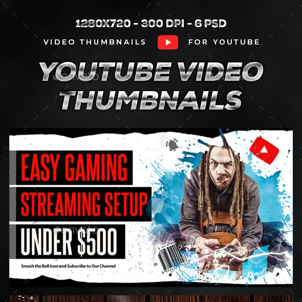 Youtube Video Thumbnails - Set 6
