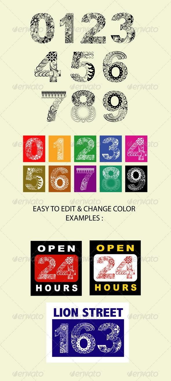 123 Ornaments - Decorative Symbols Decorative