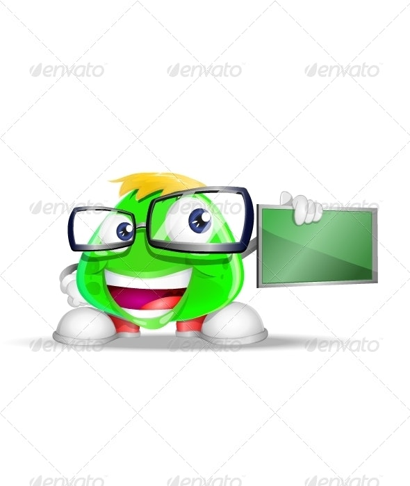 Geek Flubber Mascot - Characters Vectors