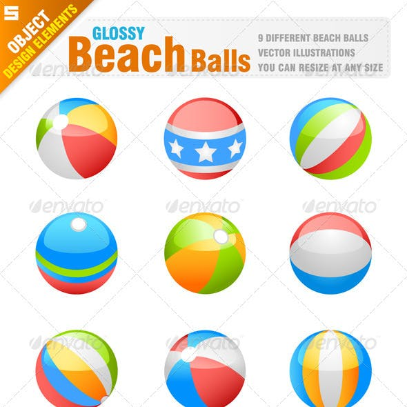Beachball And Icon Graphics Designs