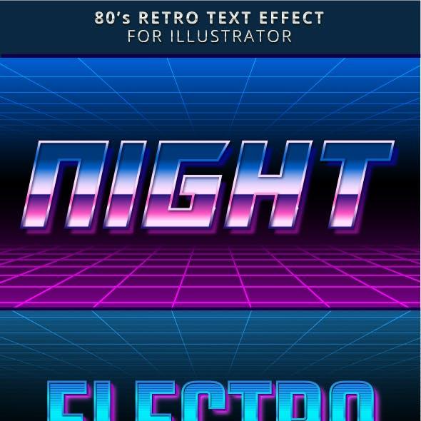 80s Retro Text Effect for Illustrator