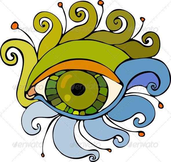 Eye Isolated - Decorative Vectors
