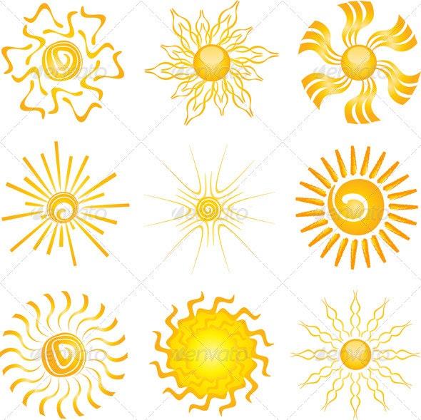 Sun Icons - Nature Conceptual