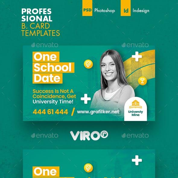 School Business Card Templates