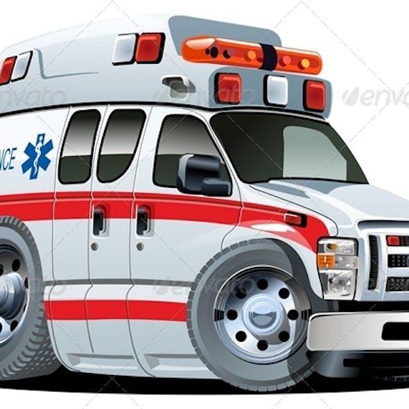 Vector Cartoon Ambulance