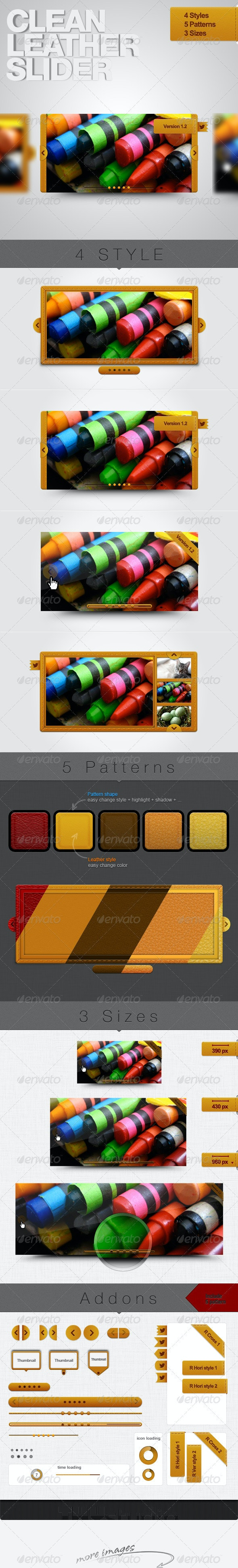 Clean Leather Sliders - Tinytheme - Sliders & Features Web Elements