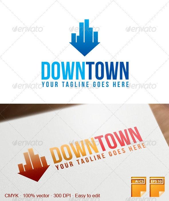 Downtown Logo - Buildings Logo Templates
