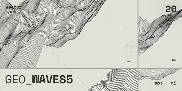 GEO_WAVES5 Vector Pack - Abstract Backgrounds