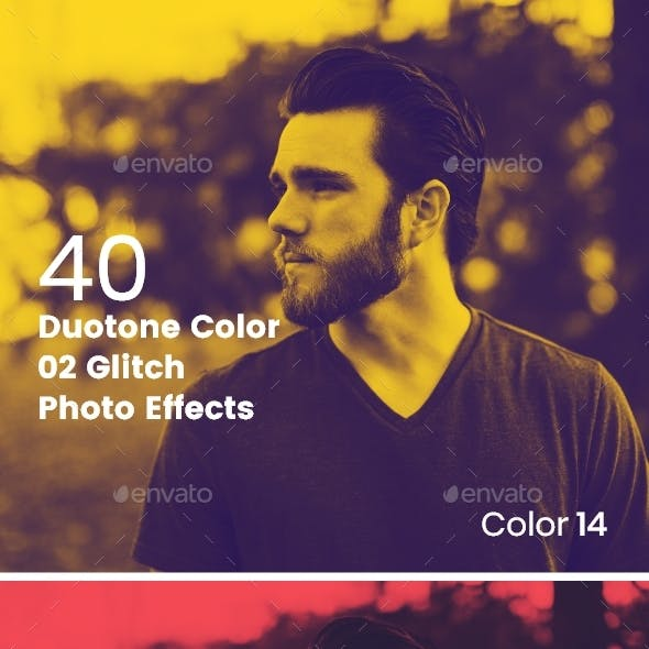 Duotone Color Effects Photo Template