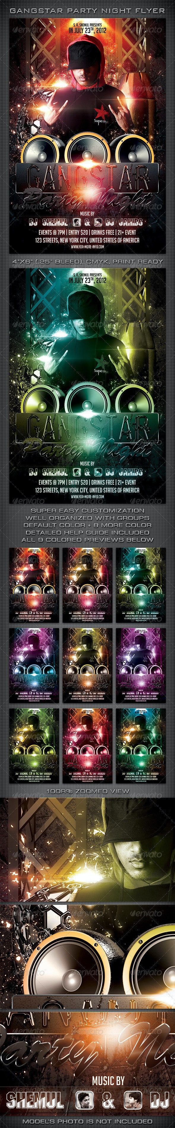 Gangstar Party Flyer - Clubs & Parties Events