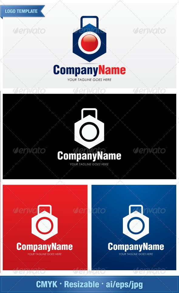 Luggage Service and Maintenance  - Objects Logo Templates