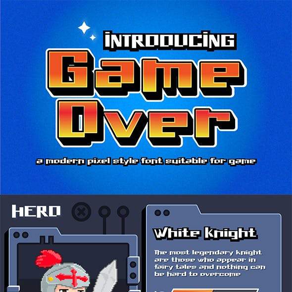 Game Over - Modern Pixel Style Font