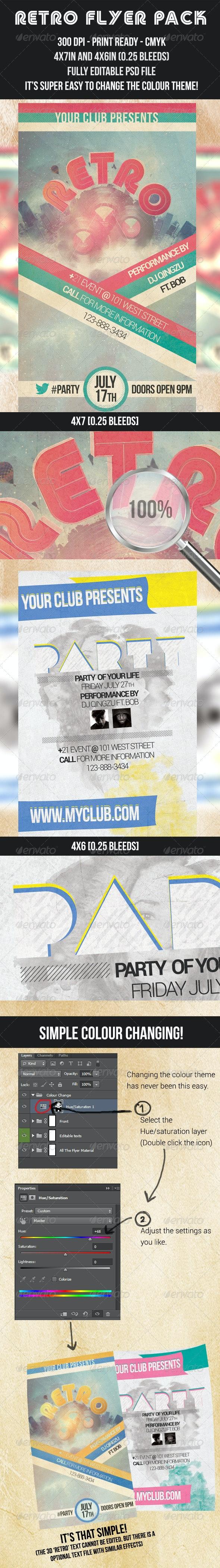 Retro Flyer - Flyers Print Templates