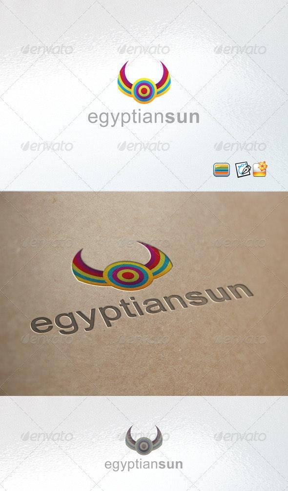 Egyptian Sun - Vector Abstract