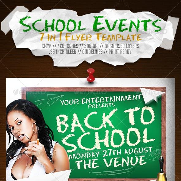 School Events (7 in 1) Flyer