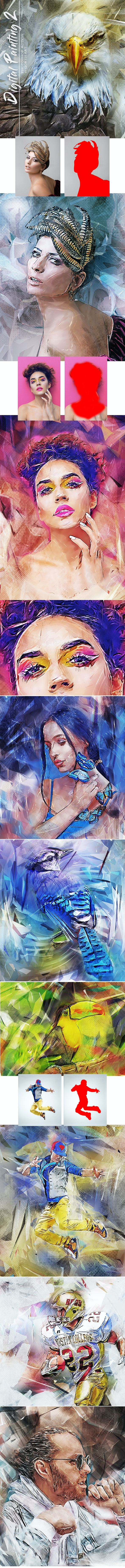 Digital Painting 2 Photoshop Action - Photo Effects Actions