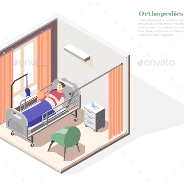 Orthopedics Clinic Isometric Concept