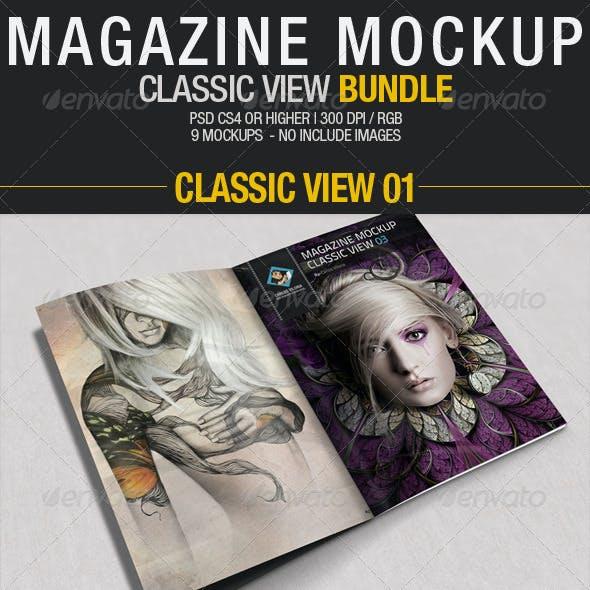 Magazine Mockup Classic View - Bundle