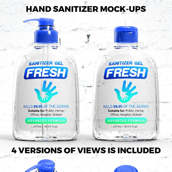 Hand Sanitizer Mock-ups