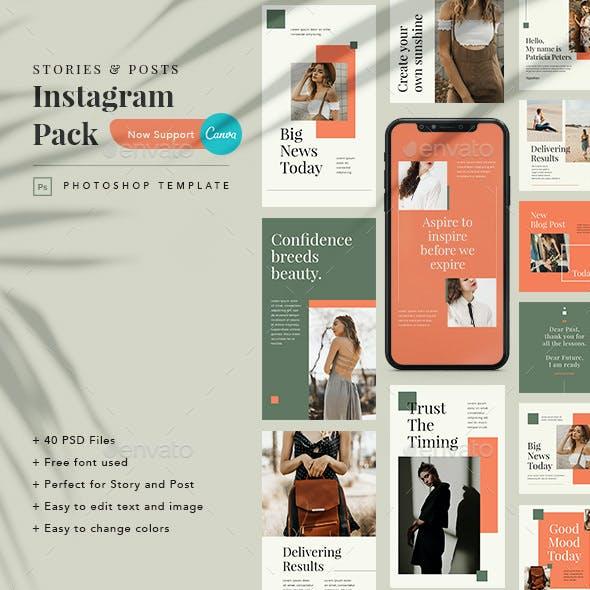 Mutiara Instagram Pack Template PSD & Canva