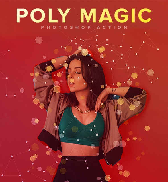 Poly Magic Photoshop Action - Photo Effects Actions