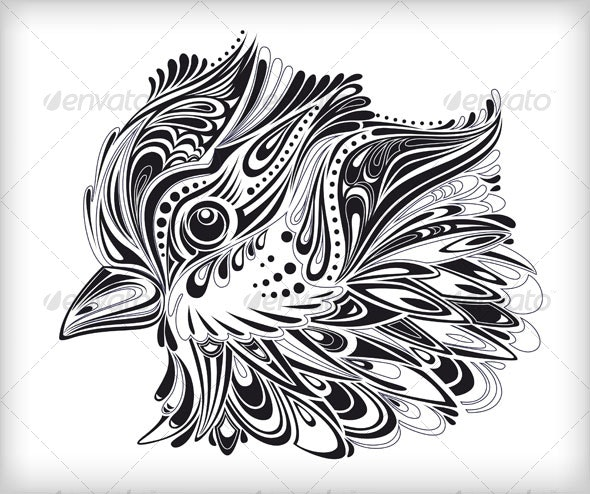 Abstract vector bird - Flourishes / Swirls Decorative
