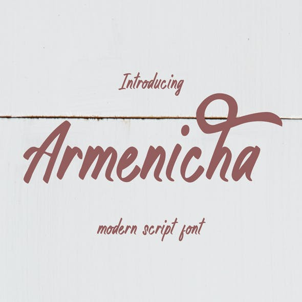 Armenicha - Modern Script Font