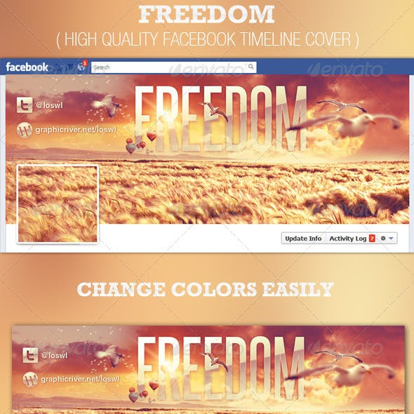 Freedom Facebook Timeline Cover Template