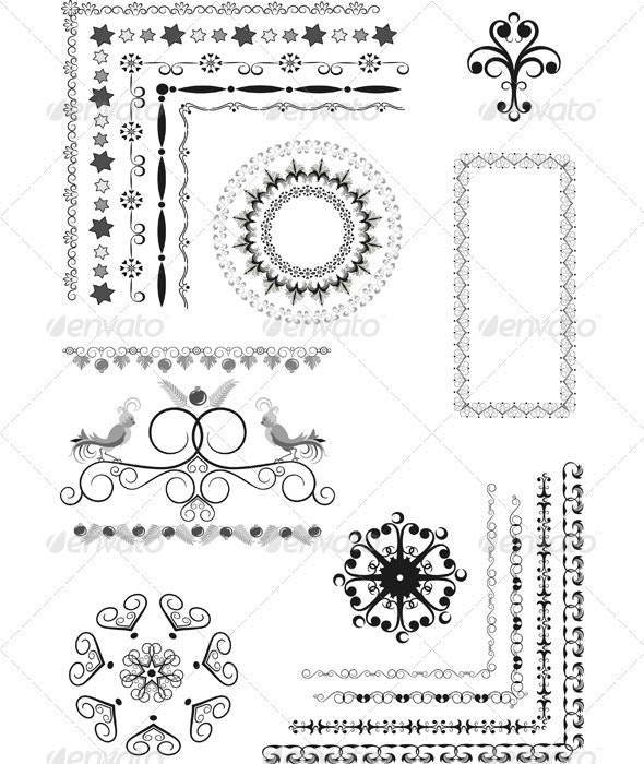 Decorative Border Frame of Ornament. - Borders Decorative