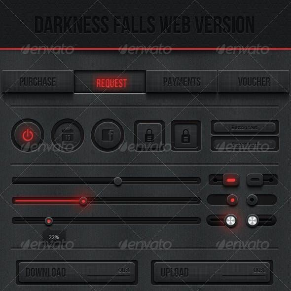 Dark Web UI kit - Darkness Falls Web Version