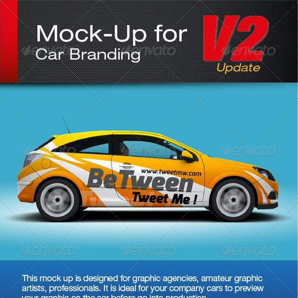 Mock-up for car branding