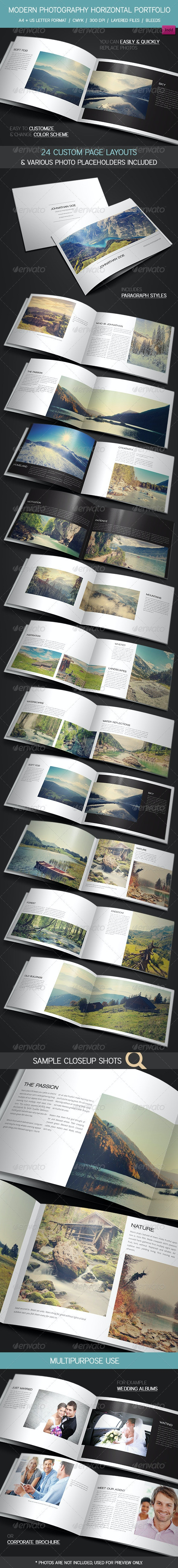Modern Photography Portfolio, Wedding Album - Portfolio Brochures
