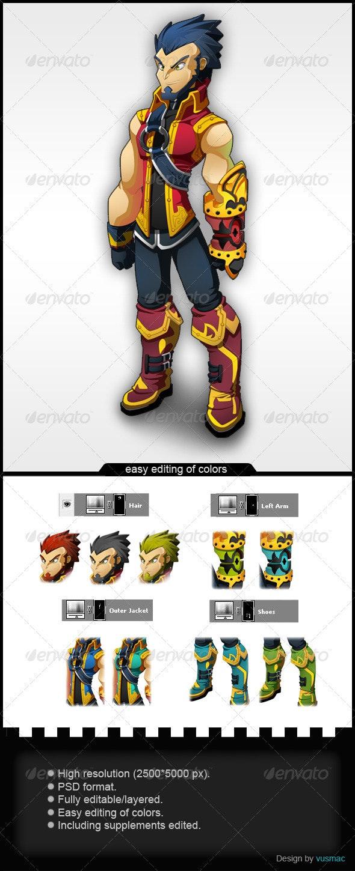 Mercenary - Characters Illustrations