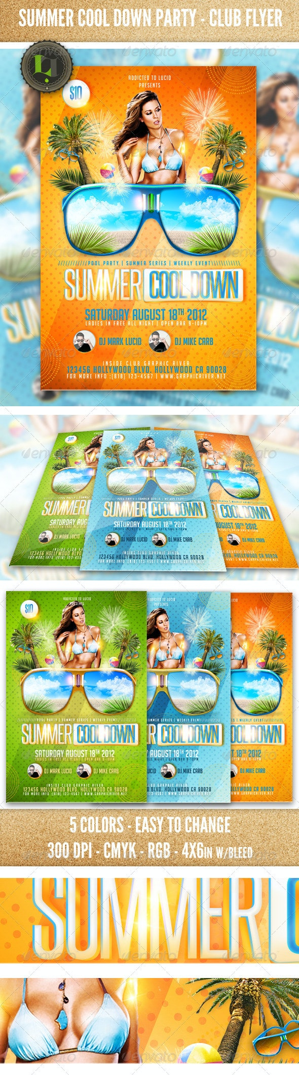 Summer Cool Down Party - Club Flyer - Clubs & Parties Events