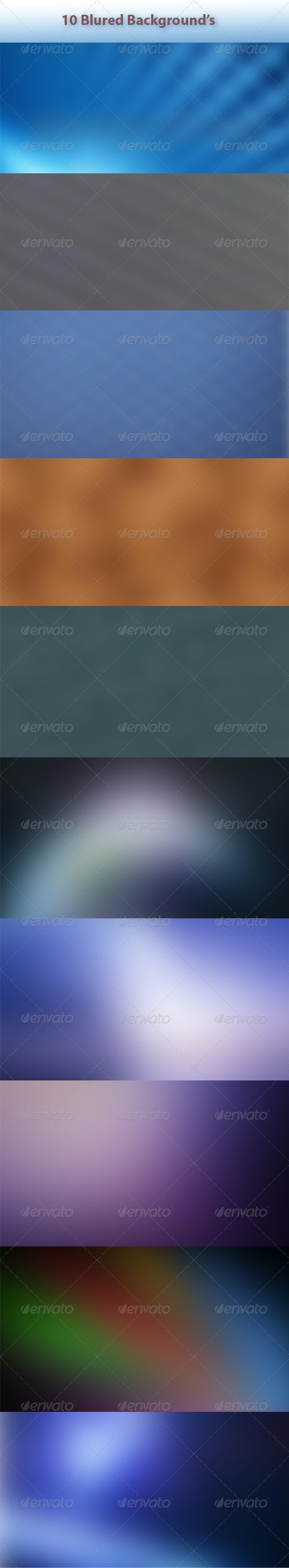 10 Blur Backgrounds - Abstract Backgrounds