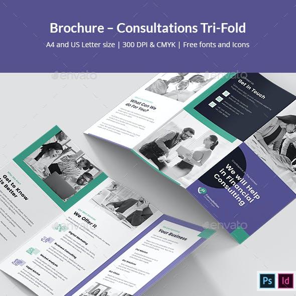 Brochure – Consultations Tri-Fold