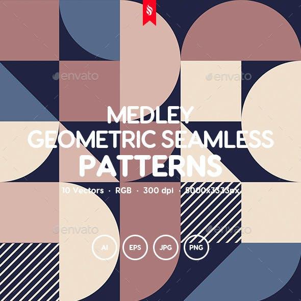 Medley - Geometric Tracery Seamless Pattern Set