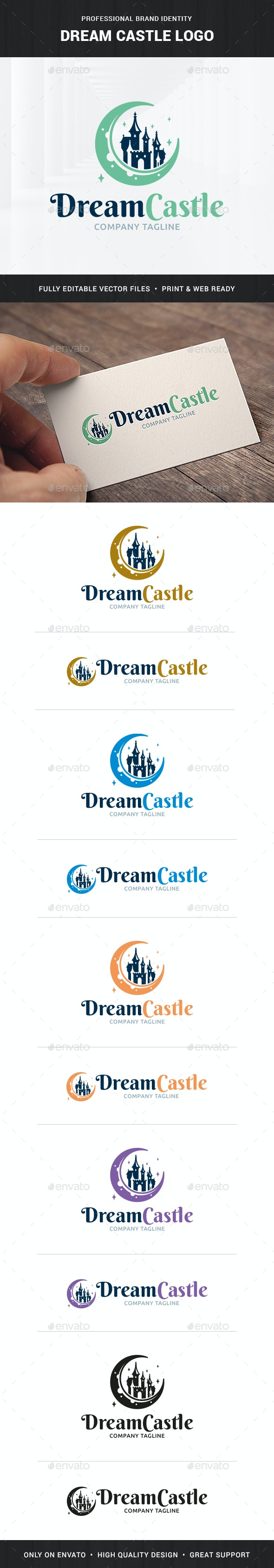 Dream Castle Logo Template - Buildings Logo Templates