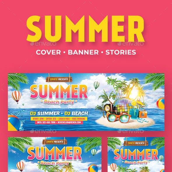 Summer Beach Social Media