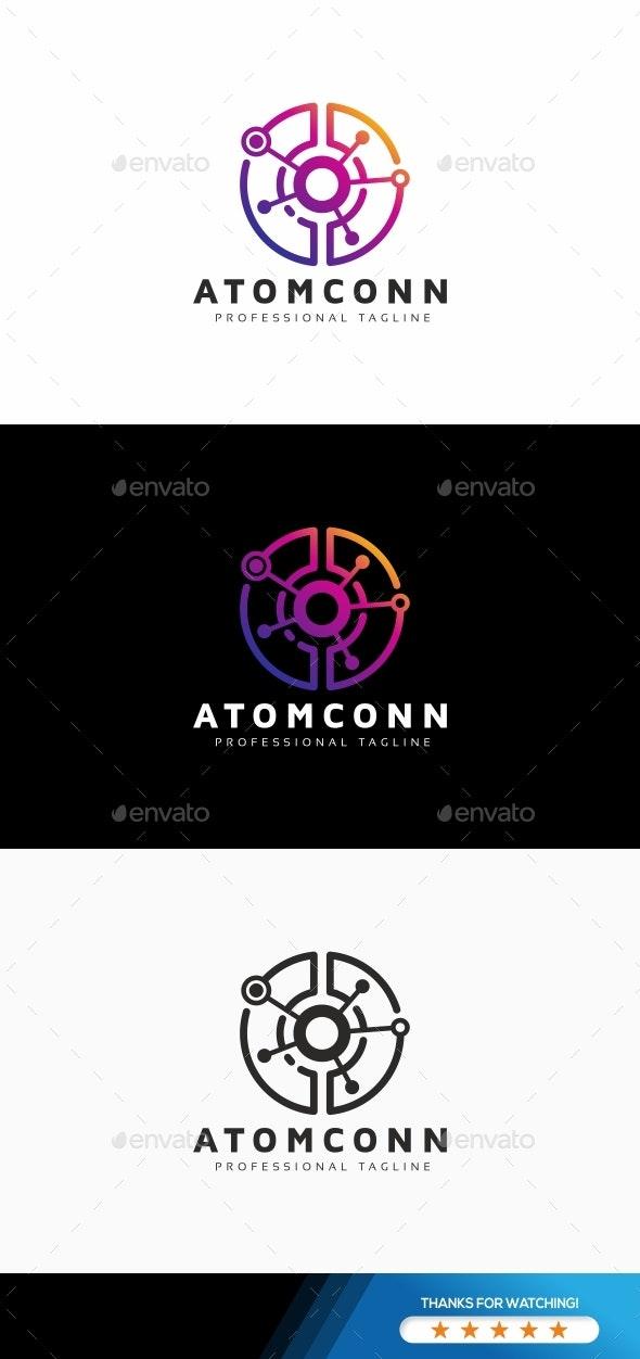 Atom Connection Electric Logo - Symbols Logo Templates