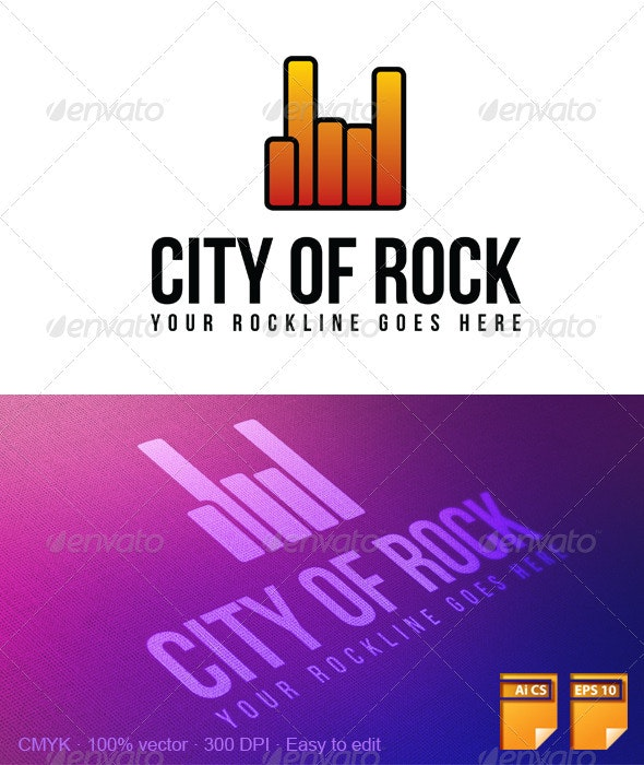 City Of Rock Logo - Symbols Logo Templates