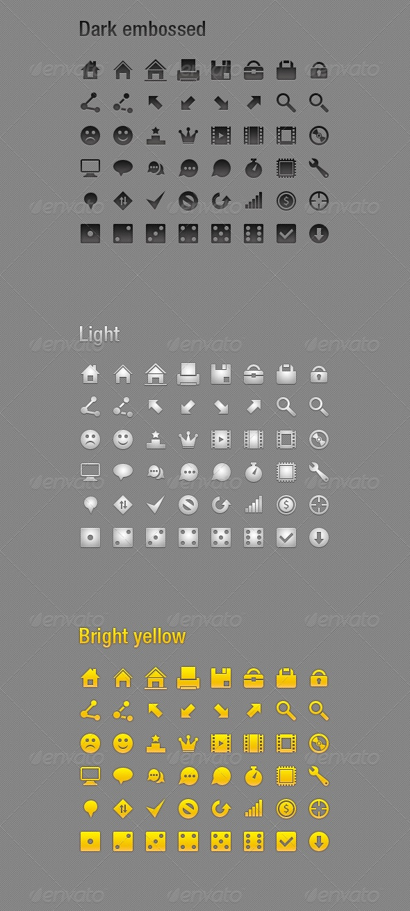 48 small icons - Software Icons